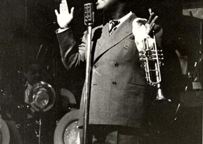 On stage in the 1930s with his big band