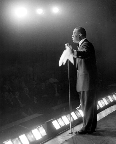 On stage in Paris, 1955