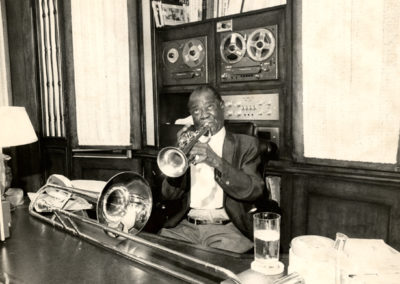 Warming up in his Corona, Queens den, 1969