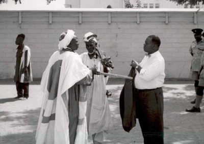 Louis in Nigeria on a State Department sponsored tour, 1960