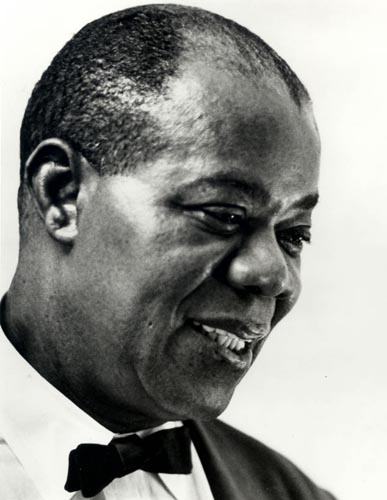 Louis Armstrong, mid-1960s (Photo by Jack Bradley)